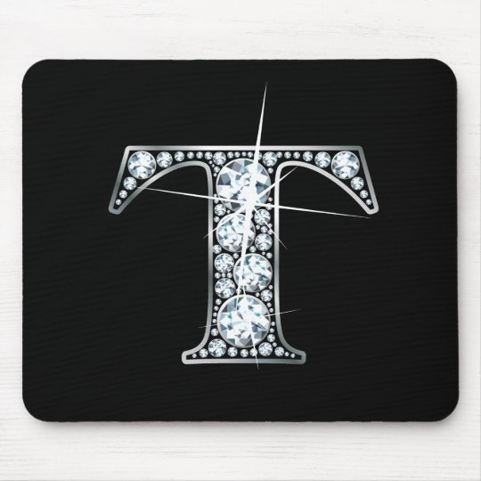 """T"" Diamond Bling Mousepad"