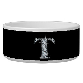 "T ""Diamond Bling"" Pet Bowl"