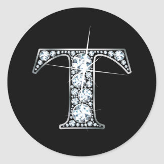 """T"" Diamond Bling Sticker"