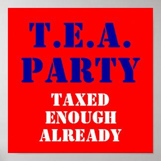 T.E.A., PARTY, Taxed, Enough, Already Poster