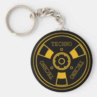 :: T E C H N O :: 5.7cm Basic Button Keychain