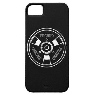 :: T E C H N O :: iPhone 5 Case - White / Black