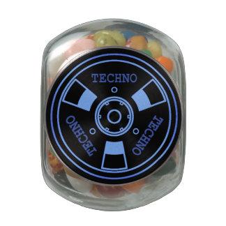 :: T E C H N O :: Jelly Belly™ Peek-A-Boo Tin Glass Jar