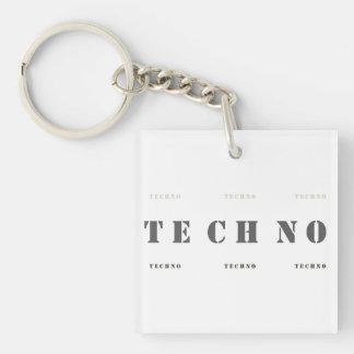 :: T E C H N O :: Keychain