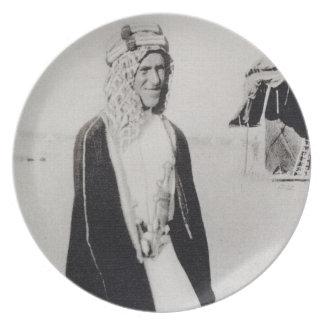 T. E. Lawrence in Arab Dress (b/w photo) Melamine Plate
