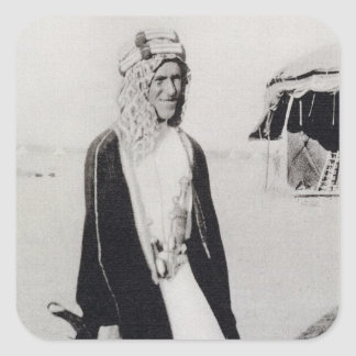 T. E. Lawrence in Arab Dress (b/w photo) Square Stickers