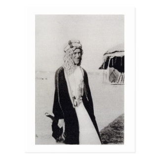 T.E. Lorenzo en el vestido árabe (foto de b/w) Tarjeta Postal