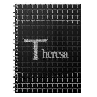 T - El alfabeto de Falck (plateado) Libro De Apuntes