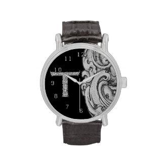 T - El alfabeto de Falck (plateado) Reloj