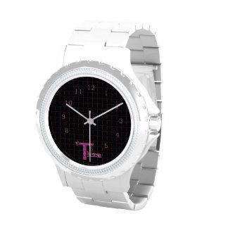 T - El alfabeto de Falck (rosa) Reloj