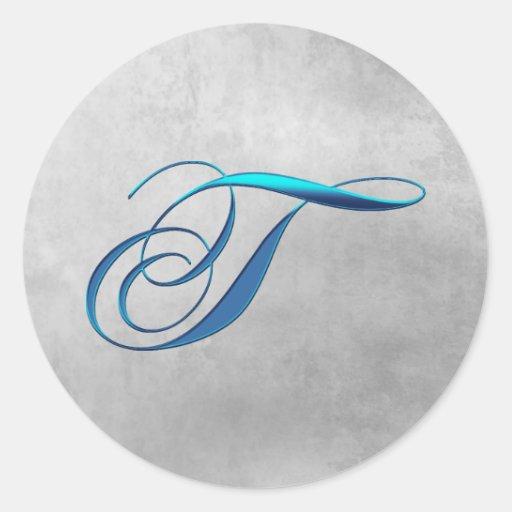 T Elegant Monogram Sticker