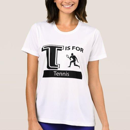 T está para el tenis camiseta