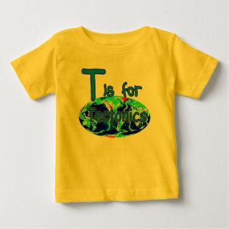 T está para la tectónica camisas