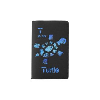 T está para la tortuga funda para libreta y libreta pequeña moleskine