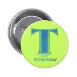 T está para los botones de la testosterona pin