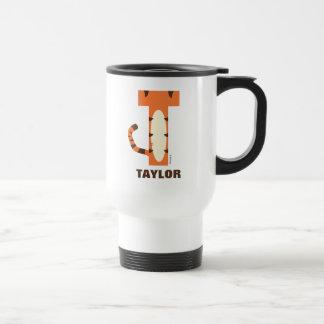 T está para Tigger el | añade su nombre Taza De Viaje