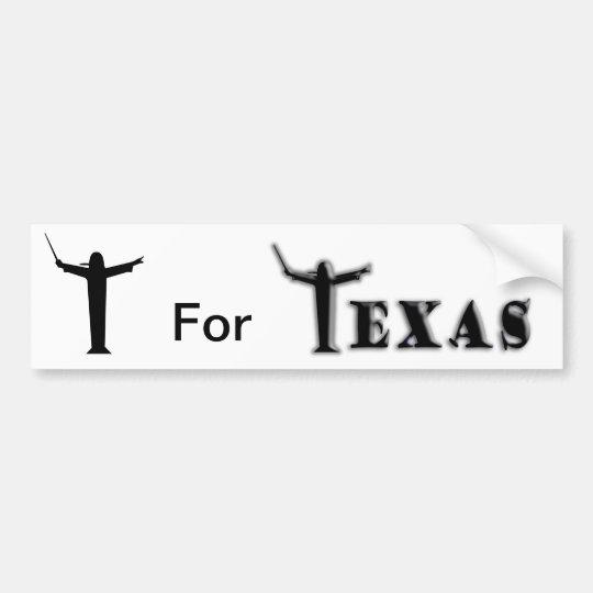 """T For """"Texas"""" Bumper Sticker"""