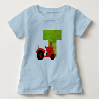 T for tractor Romper