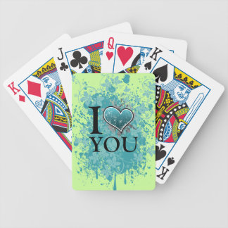 T heart bicycle poker cards