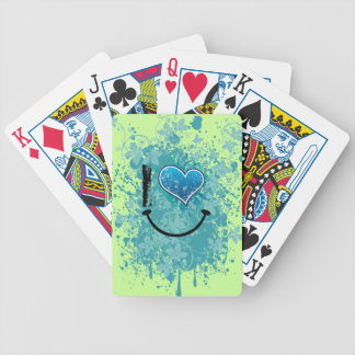 T heart bicycle poker deck