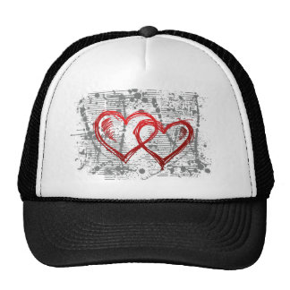 t heart  transparent hearts mesh hats