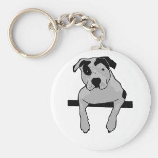 T-Hueso del pitbull Llavero Personalizado