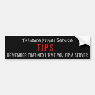 T.I.P.S., asegurar servicio apropiado, recuerdan e Pegatina Para Auto