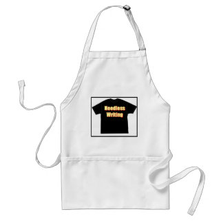 T in T_Needless writing Apron