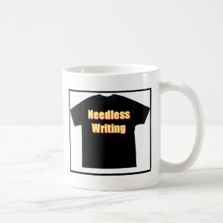 T in T_Needless writing Coffee Mug