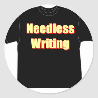 T in T_Needless writing Round Sticker