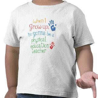 T infantil físico del bebé del profesor de la educ camisetas