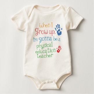 T infantil físico del bebé del profesor de la mamelucos