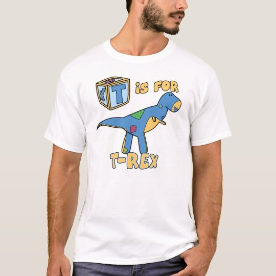 T is for T-Rex Toddler TeeShirt (White Outline) T-Shirt