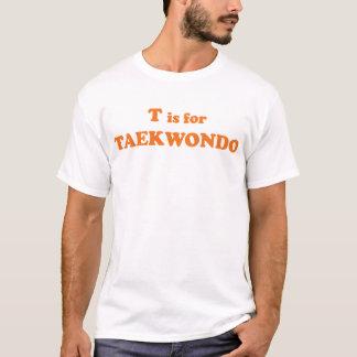 T is for Taekwondo Ringer T-Shirt
