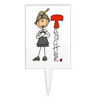T is for Teacher Cake Topper