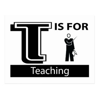T Is For Teaching Postcard