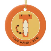 T is for Tigger | Add Your Name Ceramic Ornament