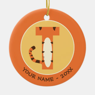 T is for Tigger   Add Your Name Ceramic Ornament
