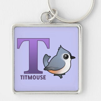 T is for Titmouse Keychain