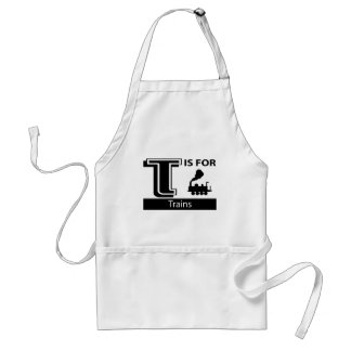 T Is For Trains Adult Apron