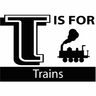 T Is For Trains Photo Sculpture Ornament