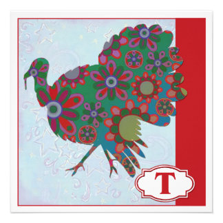 T is for Turkey Invitation