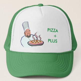 t j pizza man, PIZZA    +PLUS Trucker Hat