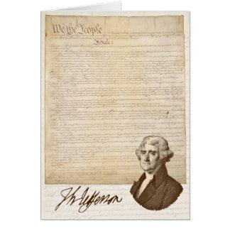 T. Jefferson: Opinion & Reason - Greeting Card