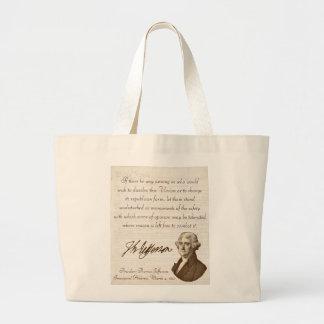 T. Jefferson: Opinion & Reason - Jumbo Tote