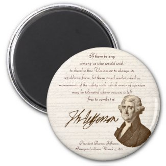 T. Jefferson - Opinion & Reason - Magnet #2 magnet