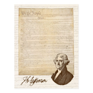 T. Jefferson: Opinion & Reason - Postcard