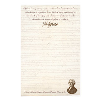 T. Jefferson: Opinion & Reason - Stationery