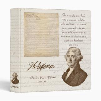 T. Jefferson: Truth & Newspapers - Binder