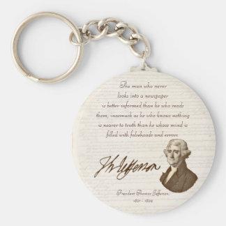 T. Jefferson: Truth & Newspapers - Keychain